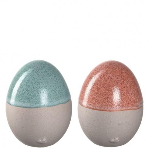 Фигура яйце 15см Savona два цвята