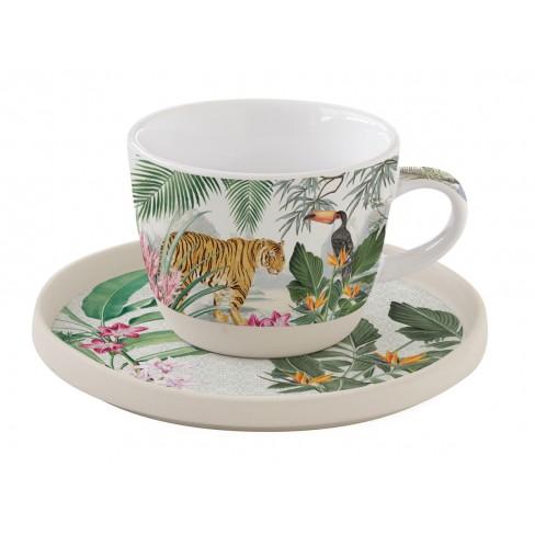 Чаша 250мл с чинийка Tropical Paradise