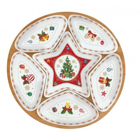 Кт плато звезда с 5 купички Christmas Ornaments
