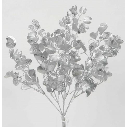 Изкуствено цвете евкалипт 37см сребрист
