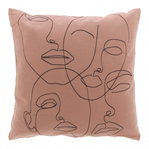 Възглавница 45х45см One Liner розова