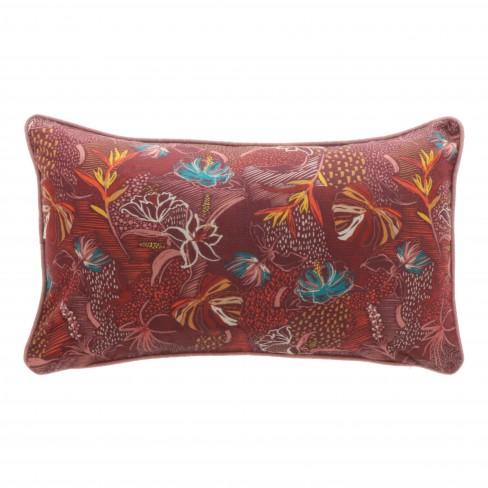 Възглавница с цветя 40х60см Olan червена