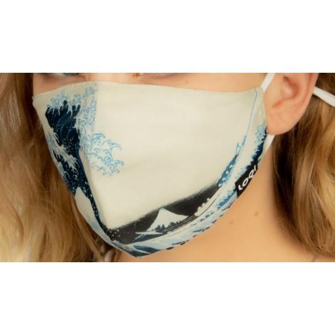 Маска за лице 25х13см Hokusai Great Wave