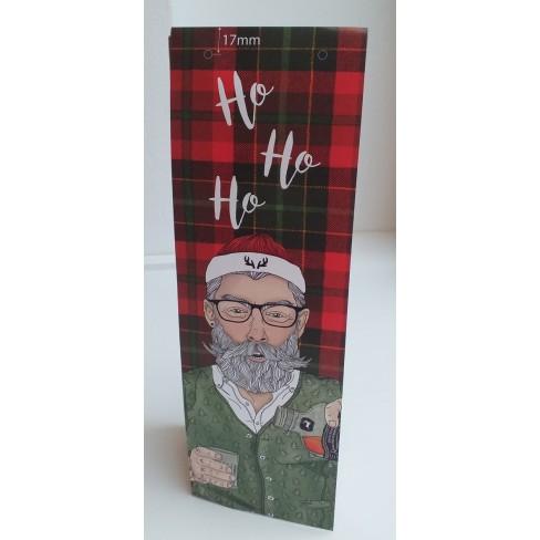 Подаръчна торбичка за бутилка Hispter Santa