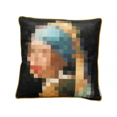 Възглавница жена с перлена обеца 45х45см Velvet Pixel