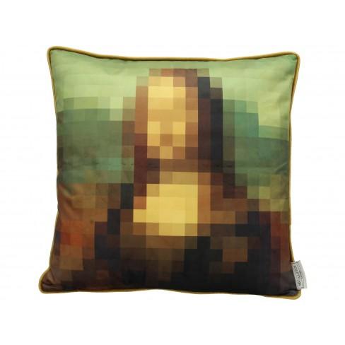 Възглавница мона лиза 45х45см Velvet Pixel