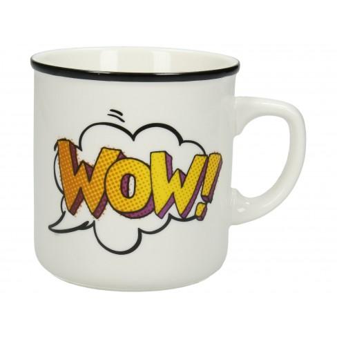 Чаша Mug Wow бяла
