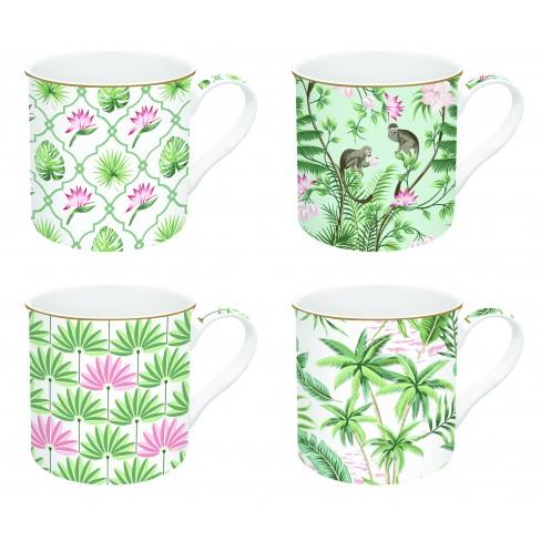 Кт/4 чаши Mug 300мл Wild Tropical