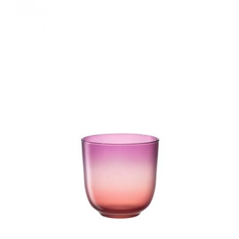Свещник/ваза 16см Tulipano розово-оранжев