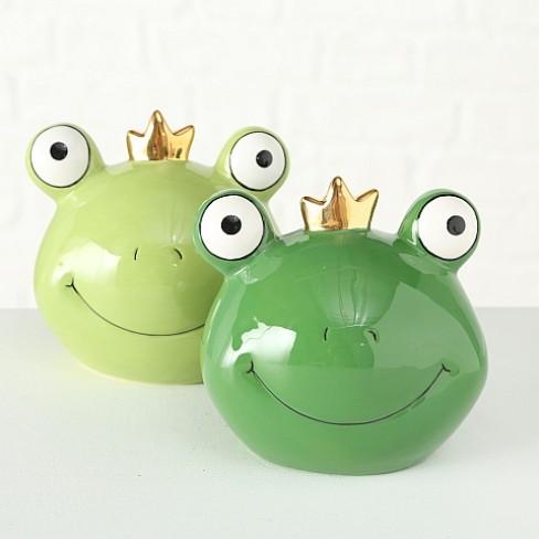 Касичка жаба 13см Lya зелена два вида