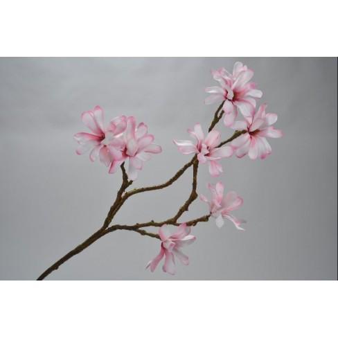Изкуствена клонка магнолия 85см розова