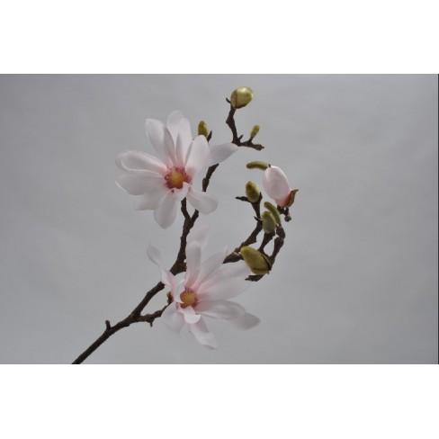 Изкуствена клонка магнолия 66см розова