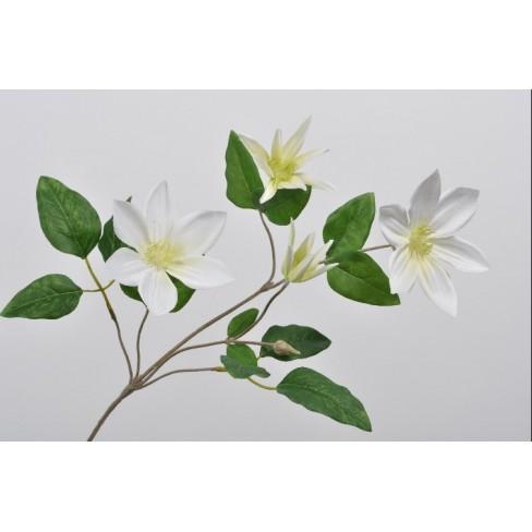 Изкуствено цвете клематис 74см бяло