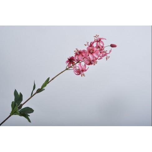 Изкуствено цвете лилия 86см розово