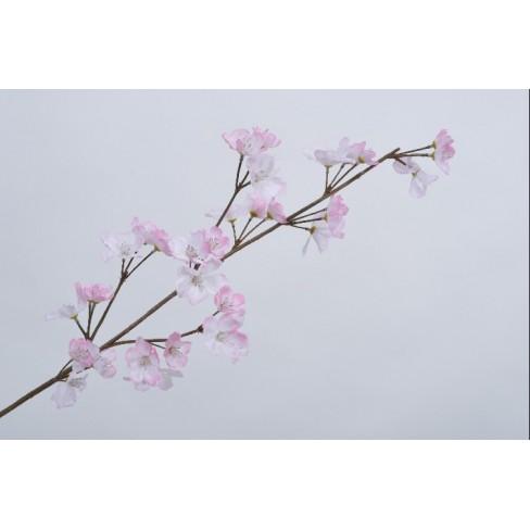 Изкуствена клонка с цветове 75см розова