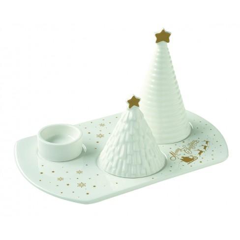 Деко сет със свещник и две фигури Christmas Delight