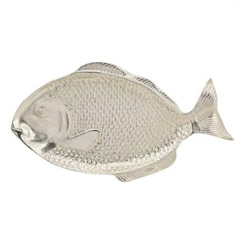 Плато риба 34х19см Gros сребристо