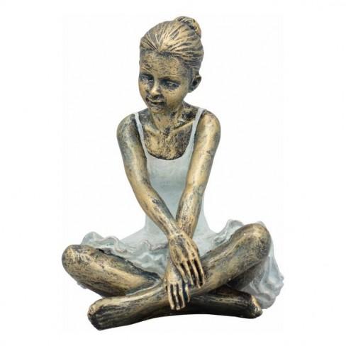 Фигура балерина със скръстени крака 20см Hilda