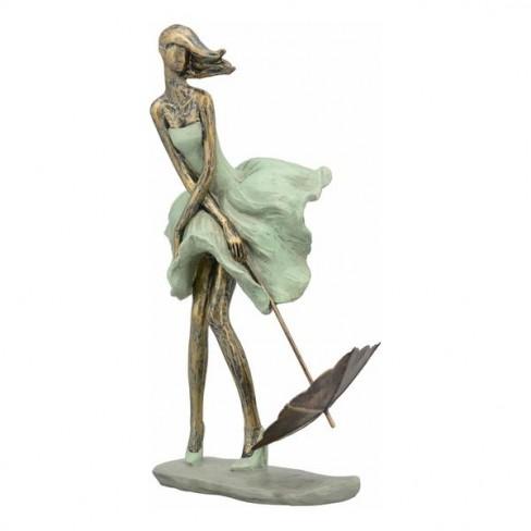 Скулптура жена с чадър 32см Hilda