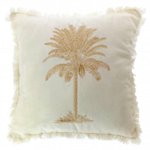 Възглавница с палма 45х45см Palm слонова кост