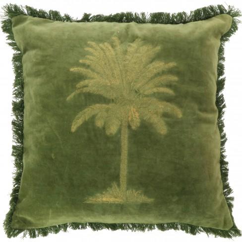 Възглавница с палма 45х45см Palm зелена
