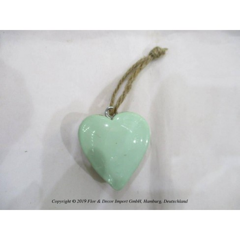 Висяща фигура сърце 5см зелена