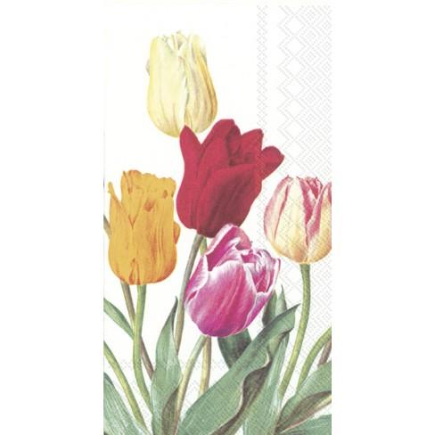 Салфетки 16бр Tulips бели