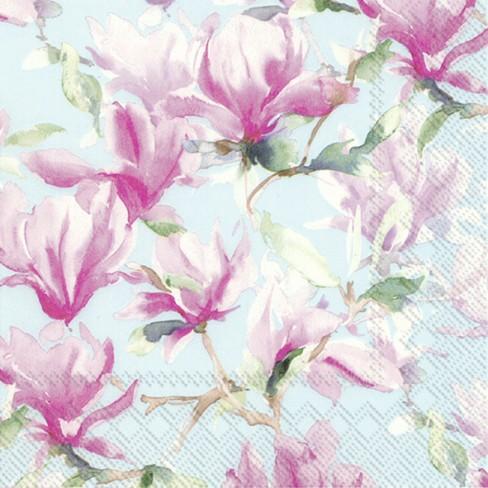Коктейлни салфетки 20бр Magnolia Poesie сини