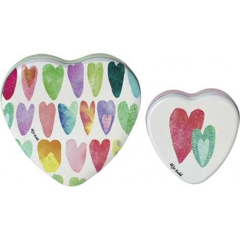 Кутия сърце Rainbow Hearts малка
