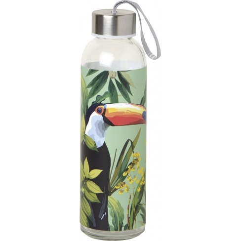 Стъклена бутилка 500мл Toucan In Paradise зелена