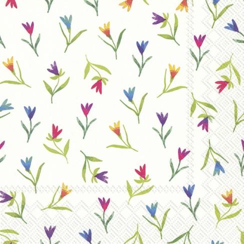 Салфетки 20бр Colourful Flowers