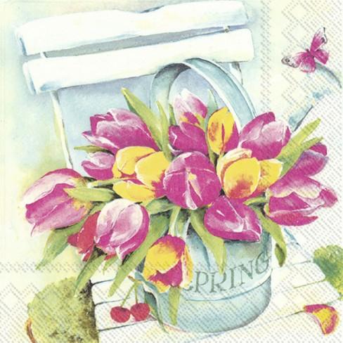 Салфекти 20бр Spring Tulips