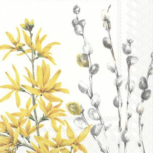 Салфетки 20бр Yellow Spring Time
