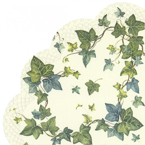 Салфетки 12бр Ivys Dream бели