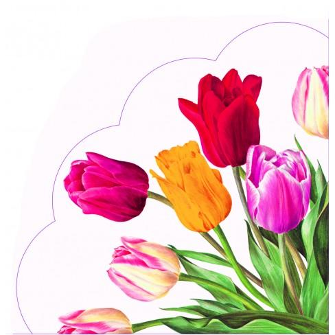 Салфетки 12бр Tulips бели