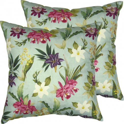 Възглавница 40х40см Flowers Of Paradise зелена