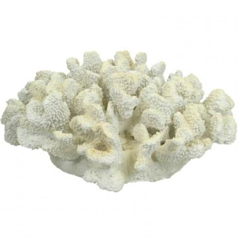 Декоративна фигура корал 26х12см бяла