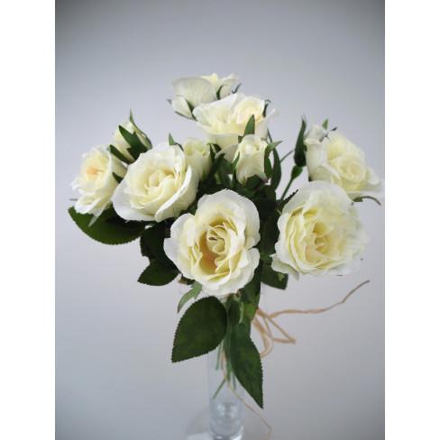 Букет рози 27см екрю