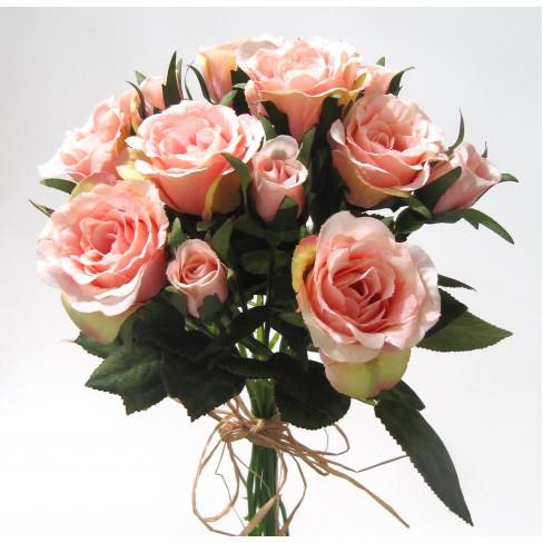 Букет рози 27см розов