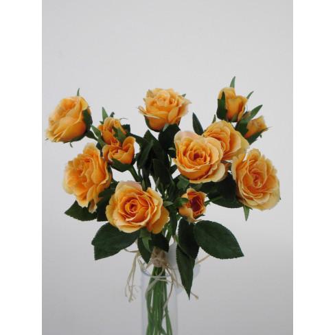Букет рози 27см тъмно оранж