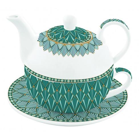 Кт за чай Tea For One Atmosphere синьо-зелен