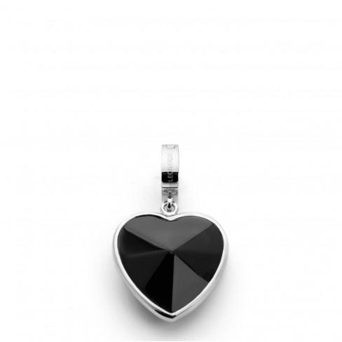 Висулка сърце Magic Darlins черна