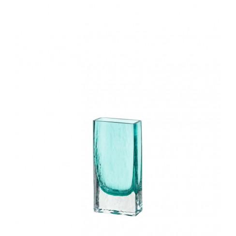 Правоъгълна ваза 21см Lucente тюркоаз