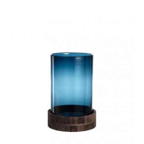 Свещник/ваза с подложка 34см Lucente син