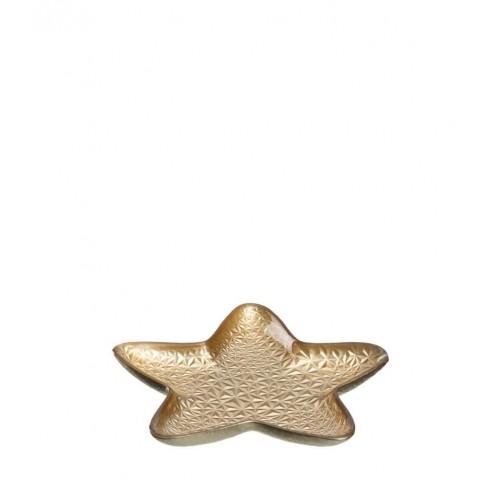 Плато звезда 31см Aurora златисто