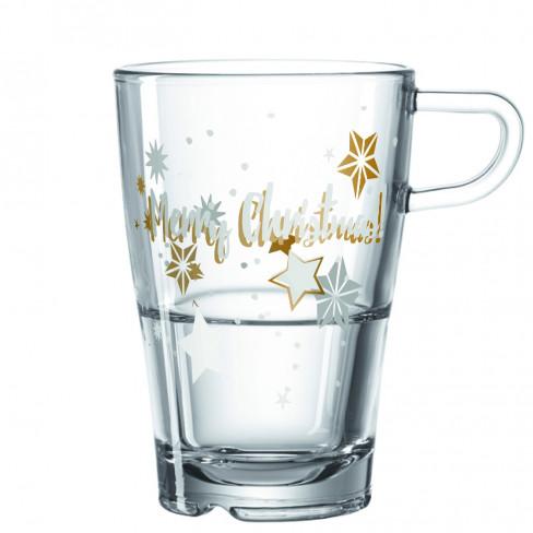 Чаша Mug със звезди Merry Christmas 0.37л Senso