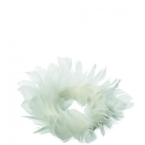 Венец с пера Nido 16 см бял