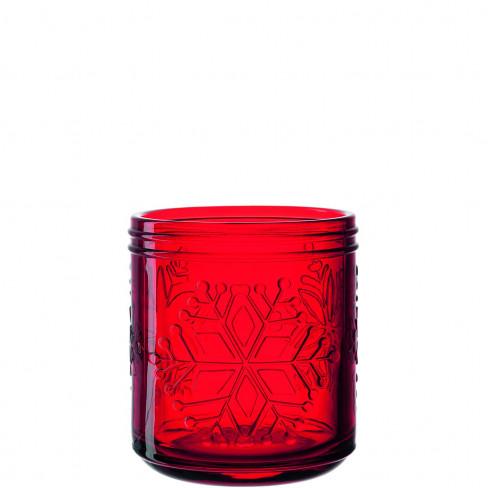 Свещник 13 см Rosso червен