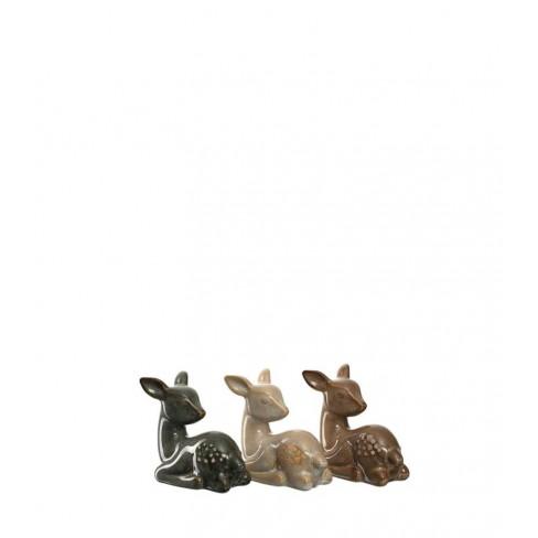 Декоративна фигура лежащ елен 8см Foresta три вида