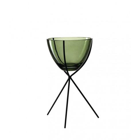Свещник за чаена свещ на стойка 22см Casolare зелен